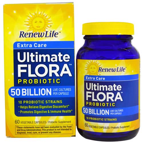 RenewLife Ultimate Flora probiotic capsules