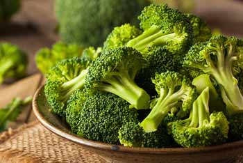 Broccoli is high in fiber and contains more protein than most other vegetables do