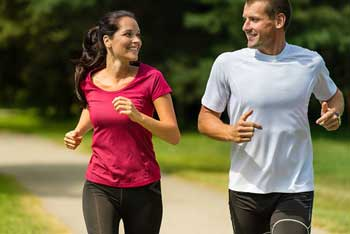 a man and woman active